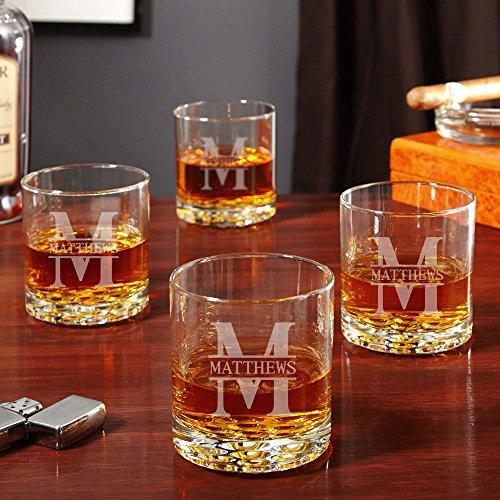 Oakmont Personalized Buckman Whiskey Glasses, Set of 4 (Custom Product)