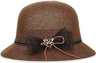 SHENLIJUAN Hat Ladies Summer Sun hat Holiday Vacation Grass Outdoor Sun hat hat Wild Straw hat (Color : Brown, Size : M56-58cm)