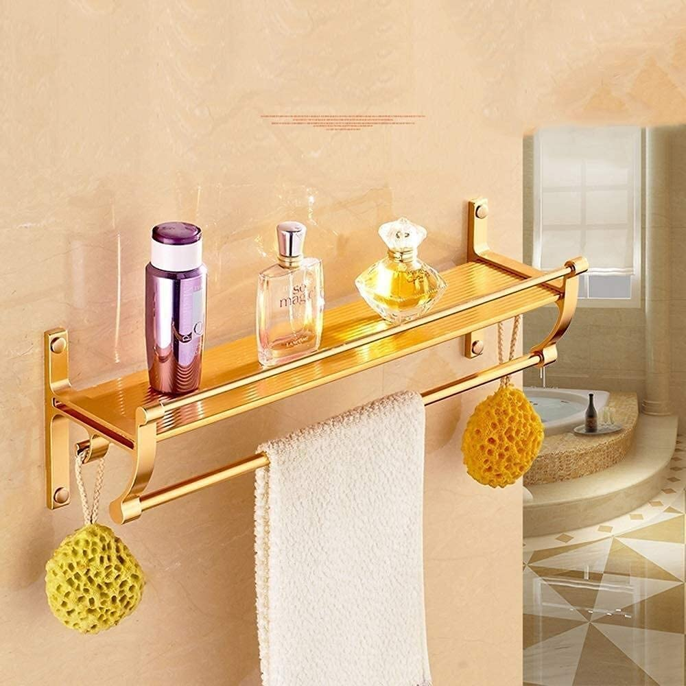 ZJDU Towel Rack NEW before selling Courier shipping free shipping ☆ Bathroom Wall Shelves Aluminum Mounted