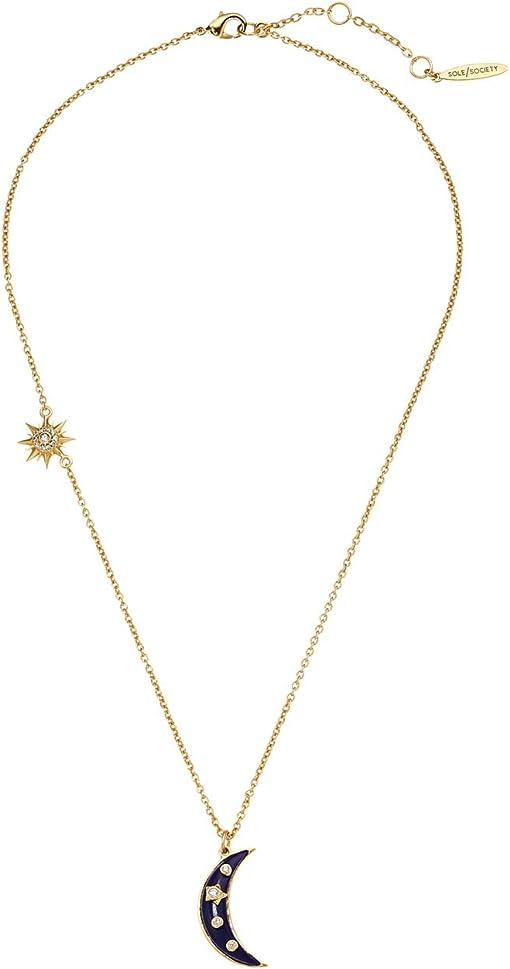 12K Soft Polish Gold/Crystal/Lapis