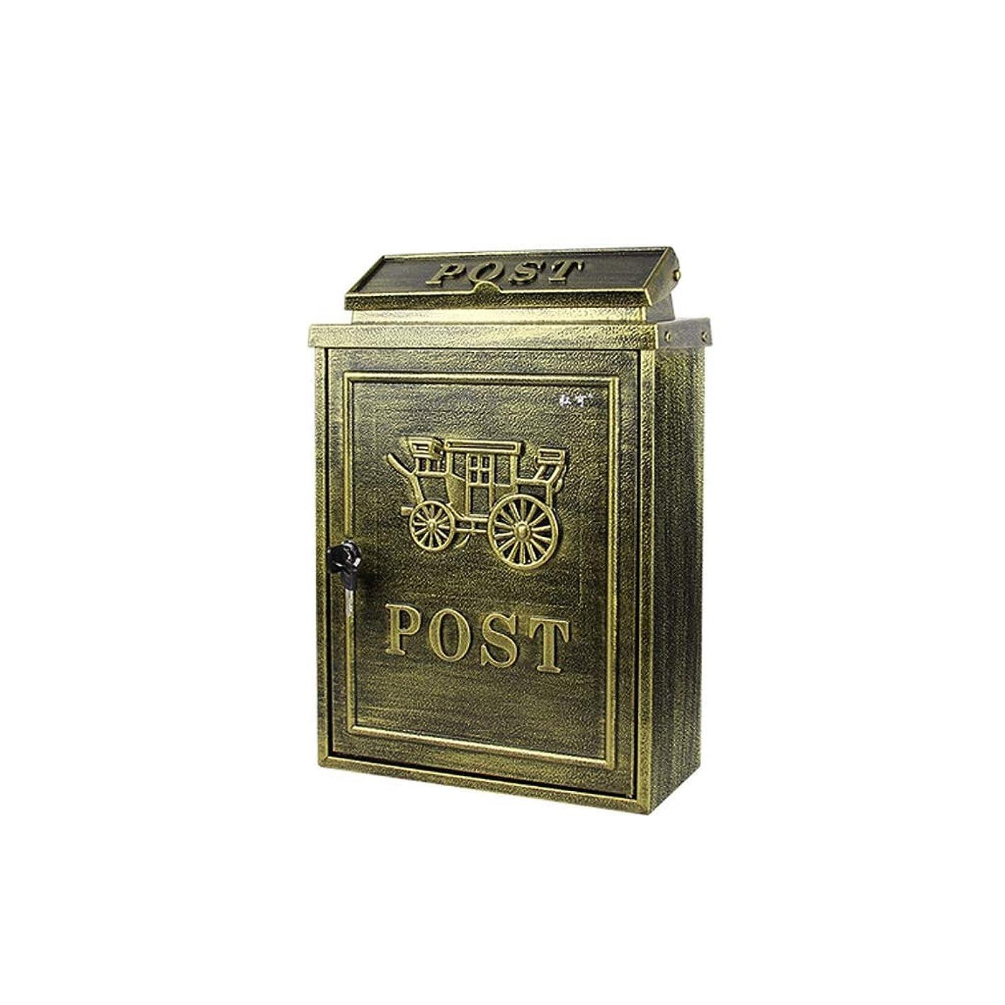 食べる七面鳥有益YQCS●LS ヨーロッパの古典的な別荘メールボックス、メールボックスのレターボックスアンティークメタリック、 - ビンテージ手紙メールポストボックス