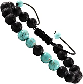 Orionis Anxiety Bracelet Turquoise Lava Stone Essential Oil Aromatherapy Diffuser For Couples Men And Women Christmas Present Stress Relief Gift Calming Beaded String Long Distance Relationships