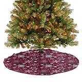 Homesonne Falda de árbol colorida con copos de nieve y estrellas ornamentales remolinos, decoraciones de fiesta de Navidad para decoraciones navideñas multicolor de 48 pulgadas