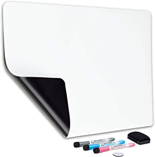 Magnetic Dry Erase Whiteboard Sheet for Fridge 17x12 in - with Stain Resistant Technology - Includes 3 Fine Tip Markers & ...