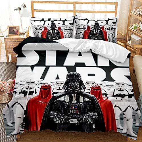 Probuk Star Wars – Juego de cama 100 % microfibra, ropa de cama para adultos y niños, diseño de Star Wars con funda de almohada (A-01,220 x 240 cm (50 x 75 cm)