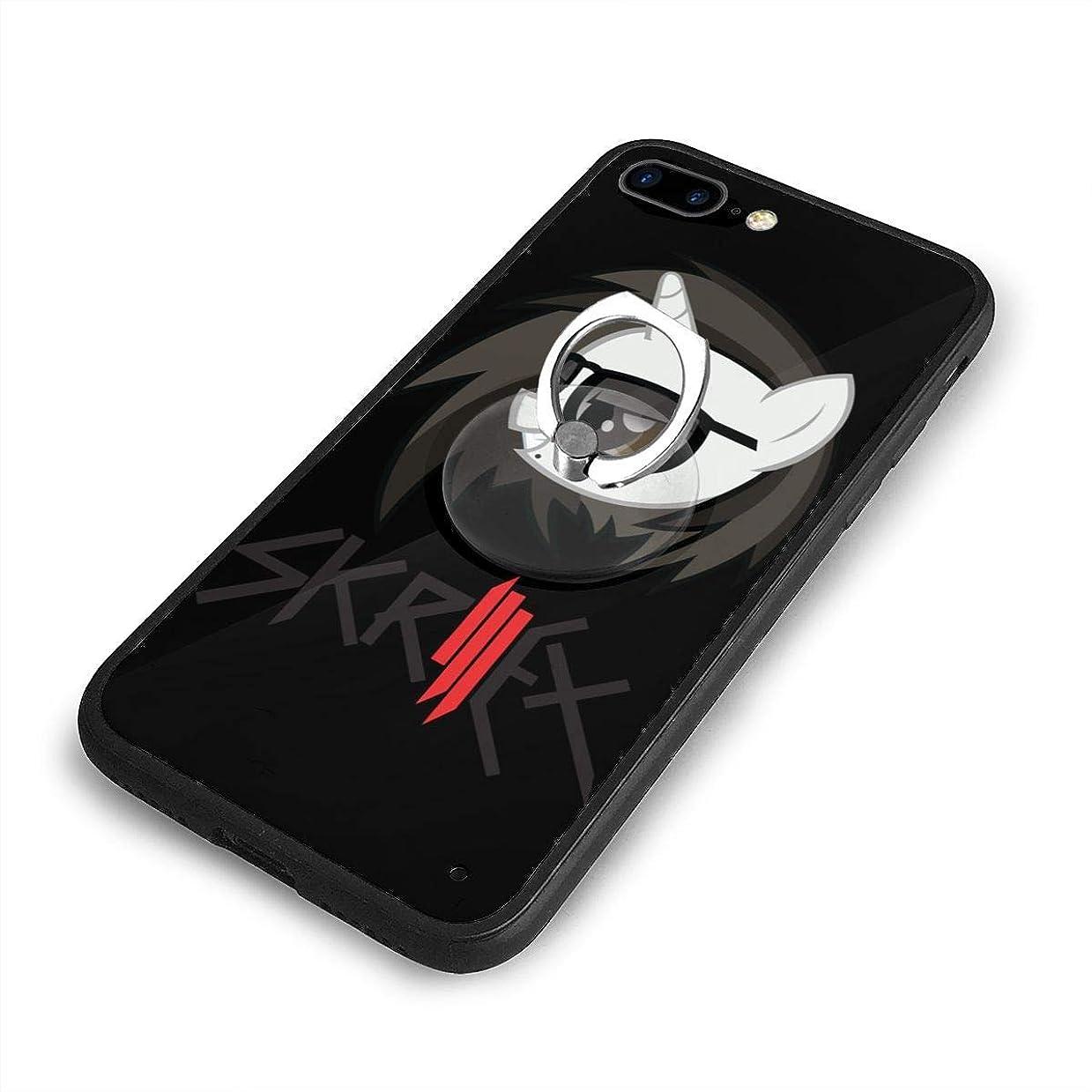 老朽化した超高層ビル本を読むSkrillex Solo iPhone 7/8 Plusケースリングブラケット 携帯カバー 創意デザイン軽量 傷つけ防止 360°回転ブラケット 携帯ケース PC 衝撃防止 全面保護
