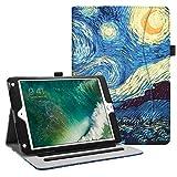 Fintie Funda Compatible con iPad 9.7 2018/2017, iPad Air 2, iPad Air - [Protección de Esquina] [Múltiples Ángulos] Carcasa con Bolsillo Auto-Reposo/Activación, Noche Estrellada