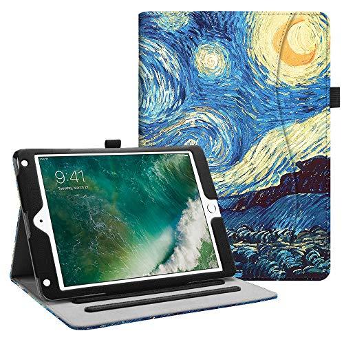 Fintie Hülle für iPad 9.7 Zoll 2018 2017 / iPad Air 2 / iPad Air - [Eckenschutz] Multi-Winkel Betrachtung Folio Stand Schutzhülle Case mit Dokumentschlitze, Auto Sleep/Wake, Sternennacht