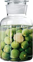 MOLADRI 85 Oz Large Glass Jar with Airtight Glass Lid, Big Container Canister Holder with Wide Mouth Extra Large Fermentat...