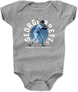 500 LEVEL George Brett Kansas City Baseball Baby Clothes & Onesie (3-24 Months) - George Brett Emblem