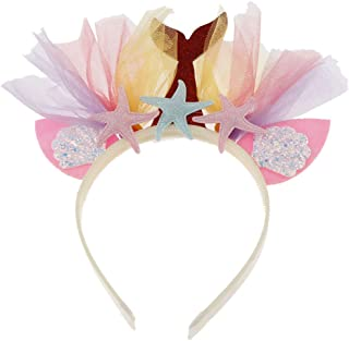 Prettyia Mermaid Headband Child and Adult Mermaid Tail Headband for Halloween Costume Birthday Party Decoration Girl