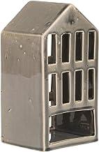 "Sagebrook Home 14517-01 Dark Gray 9.5"" Ceramic House Lantern, 5.25 x 4.5 x 9.5"