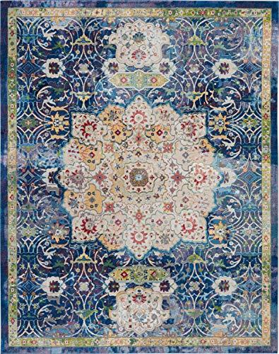 Nourison Global Vintage Blue Multicolor Oushak Area Rug 8
