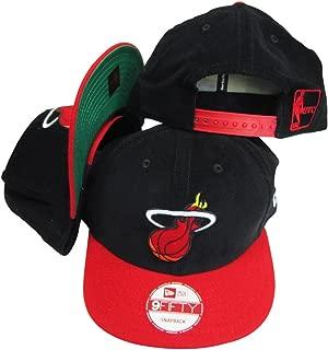 Miami Heat Corduroy Black/Red Two Tone Plastic Snapback Adjustable Plastic Snap Back Hat/Cap