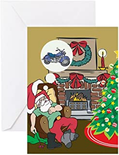 CafePress Santas Motorcycle Greeting Card, Note Card, Birthday Card, Blank Inside Glossy
