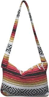 Mexican Falsa Blanket Purse Messenger Tote Bag with Fringe