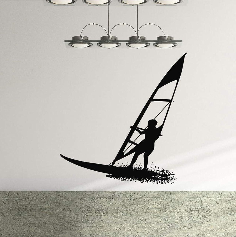 うねる残忍な途方もないAnsyny サーフボードビニールウォールステッカーサーフィンウォータースポーツウォールデカールビーチスタイル家の装飾取り外し可能なサーフィン愛好家のギフト壁紙57 * 60センチ