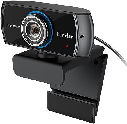 Webcam 1536p Full HD Besteker con Microfono Stereo Telecamera PC per Video Chat e Registrazione da 1080p Videocamera Grandangolare per Skype, Laptop, Desktop, Mac - Trova i prezzi più bassi