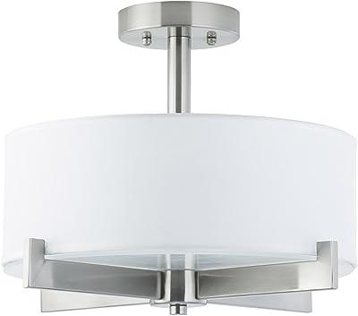 Medium Base CFL Emerson Ceiling Fans LK77SW White Linen Light Fixture for Ceiling Fans