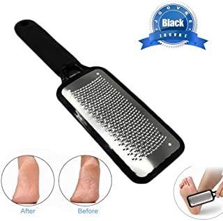 Best Foot File by Joovre, Best Callus Remover for Dry and Wet Feet, Exfoliates, Removes Hard Skin, Surgical Grade Stainless Steel File (Black) Review