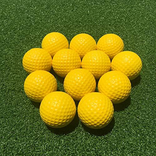 SkyLife Golf Practice Balls, Soft Golf Foam Balls for Indoor Outdoor Backyard Training (Yellow 12pcs)