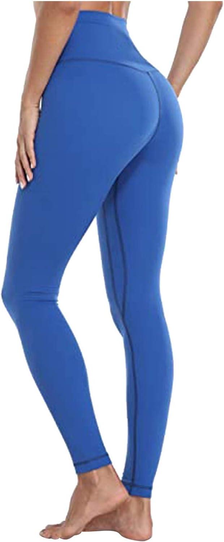 Damen Sport Leggings,hohe Taille Sporthose Lange Yogahosen,Sport Leggins Yoga Tights,Sporthose Yogahose Fitnesshose High Waist,Damen Slim Fit Hohe Taille Sportshort Lange Leggings mit Bauchkontrolle