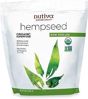 Nutiva orgánica, cruda, semillas de cáñamo sin cáscara, 5 libras