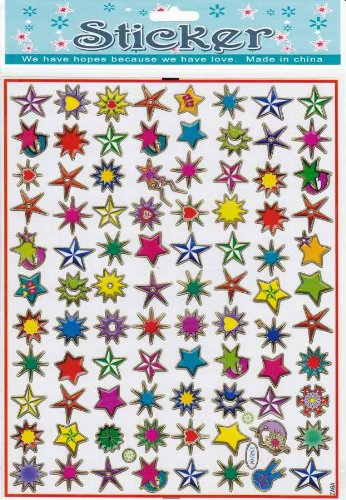 by soljo étoiles Decal Autocollant de décalque 1 Dimensions de la Feuille: 25 cm x 20 cm