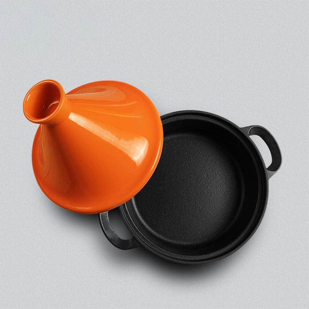 Cocotte en fonte émaillée résistante à la chaleur - Marmite Shadow avec couvercle - Taji Pot 26 cm - Céramique - Haute casquette - Induction - Universelle stylename size vert Jaune