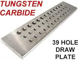 DRAWPLATE 39 Hole TUNGSTEN CARBIDE steel