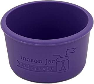 4oz Silicone Sleeves/Jackets for Protecting Small Ball, Kerr, Quilted Canning Jars by Mason Jar Lifestyle (Ultra Violet, 2...