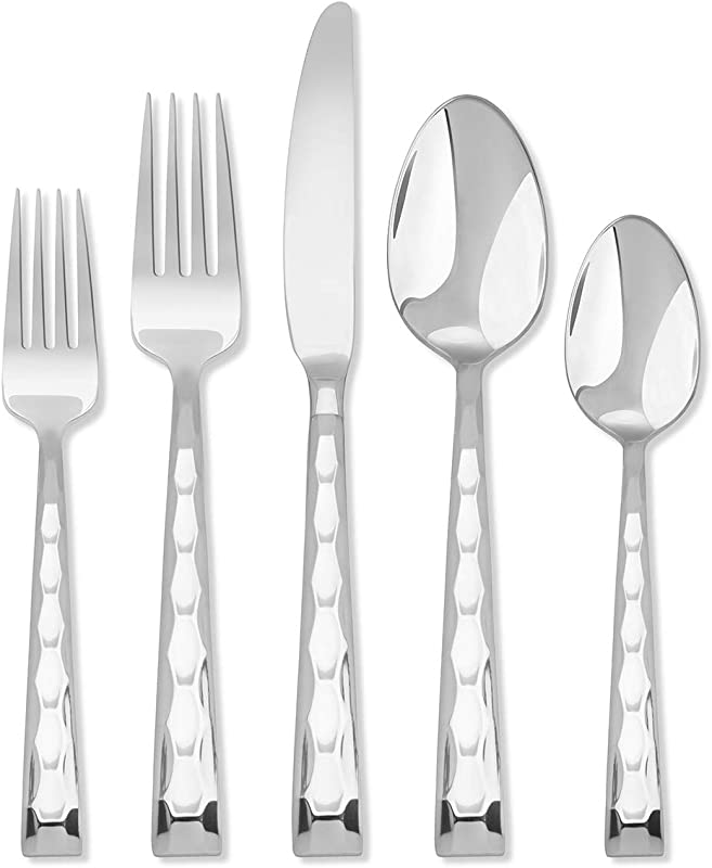 Hampton Forge Signature Carnival Mirror 20 Piece Flatware Set 167B0202JS