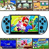 Handheld Game Console, Built-in Free 10000 Games 8GB 4.3'' TFT Screen Media Player with Camera Support TV Output, Portable Rechargeable Game Console for GBA/GBC/SFC Games, Present for Kids and Adult