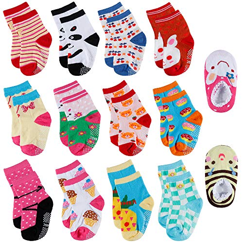 Lictin 14 PCS Kinder Antirutsch Sock Knöchel Söcken Baby ABS Antirutsch Söcken Antirutsch Babysöcken für kinder