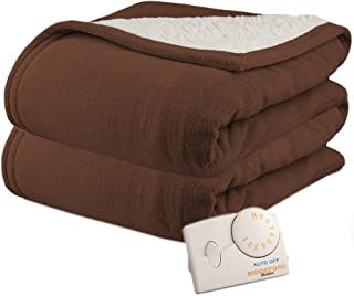 sunbeam electric heated sherpa microplush