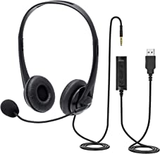 Chat Headset with Microphone,PC Headset USB/3,5mm Business Headset,für entspanntes..