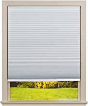 Easy Lift Trim-at-Home Cordless Cellular Blackout Fabric Shade White, 36 in x 64 in, (Fits windows 19