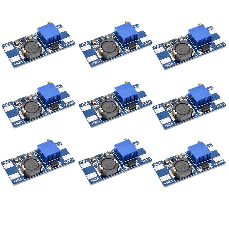 Icstation MT3608 DC Voltage Regulator Step Up Boost Converter Power Supply Module 2V-24V to 5V-28V 2A (Pack of 10)