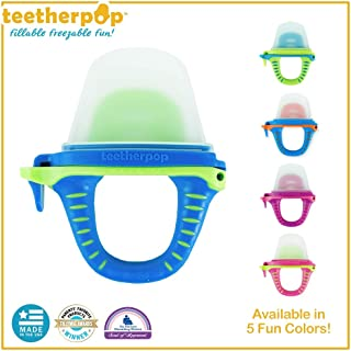teetherpop - Fillable, Freezable Baby Teething Popsicles for Purees, Smoothies, Juices, Breast Milk & More for Babies & Toddlers (Baby Teether is USA Made & BPA Free)