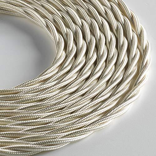 Klartext – Cable textil trenzado luminoso para iluminación, 3 x 0,75 mm,...