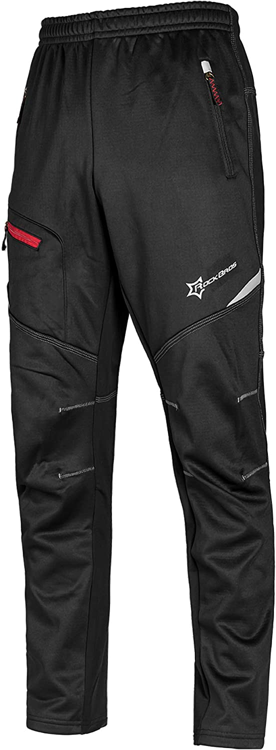 ROCK BROS Cycling Pants for Men Thermal Winter Windproof Max 86% OFF Max 69% OFF Fleece
