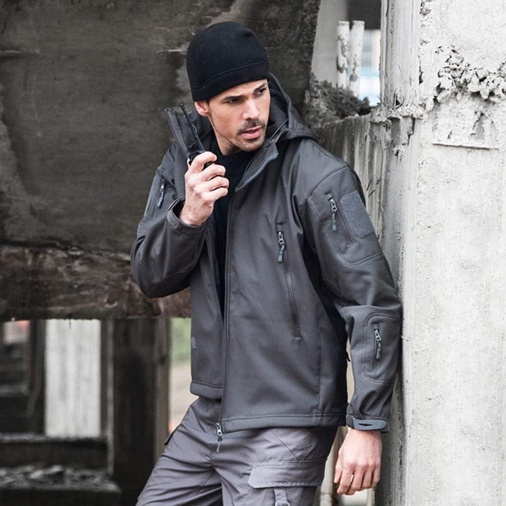 Newdeve Men's Camouflage Raincoat Waterproof Lightweight Breathable Jacket Outdoor Hooded Overcoats