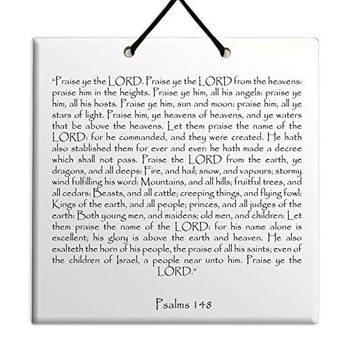 Hout MDF tegel muur opknoping Engels Psalmen hoofdstuk 148 TEHILLIM