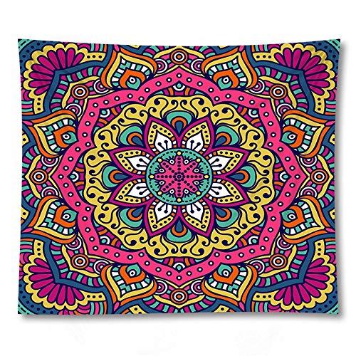 PPOU Tapiz Hippie de Pared con Estampado de Mandala, decoración del hogar, Alfombra Colgante, Manta de sofá Grande, Tapiz de Tela de Fondo A1 73x95cm