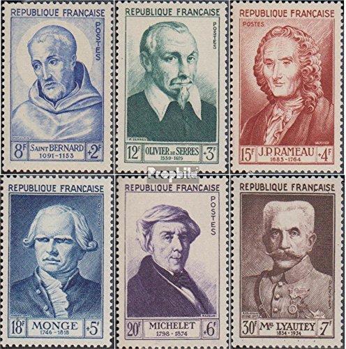Prophila Collection Frankreich 965-970 (kompl.Ausg.) 1953 Berühmte Franzosen (Briefmarken für Sammler)