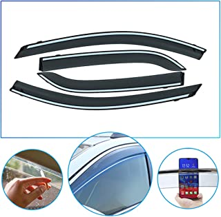 4 Pcs/Set Tape-On Outside-Mount Side Window Wind Deflectors Rain Guard for Mitsubishi Outlander 2016-2018 Front Rear Car Rooftop Visors Accessories & Body Parts
