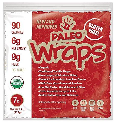 Julian Bakery : Paleo Wraps : Gluten-Free : Grain-Free : 7 Individual Wraps : 6 Net Carbs