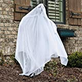 Fun Express - White Ghost Yard Stake W/ Led Light for Halloween - Home Decor - Outdoor - Yard Art - Halloween - 1 Piece