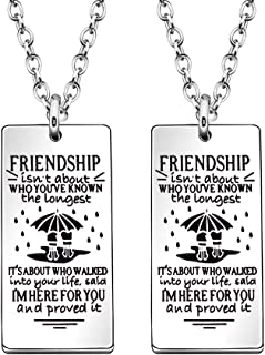JJIA 2 Pcs Friendship Necklaces for Best Friends Women Necklace Birthday Gifts
