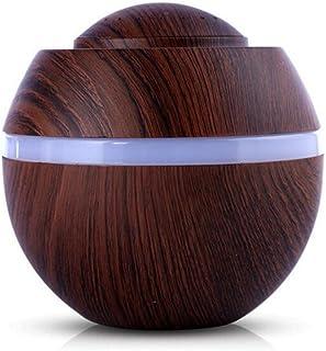 Muium Color ultrasónico del humectador LED del humectador del Aroma del Aire de 500ml USB Que Cambia el Aceite Esencial para Hogar, Oficina, Dormitorio (A)